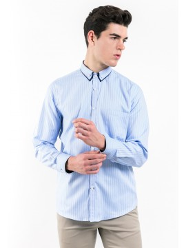 SLIM FIT STRIPED SHIRT WITH BUTTON-DOWN COLLAR