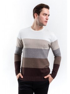 MANLY COTTON KNIT SWEATER HAGGART WHITE
