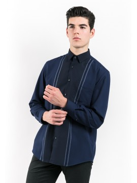 REGULAR FIT STRIPED SHIRT WITH COMBINATION