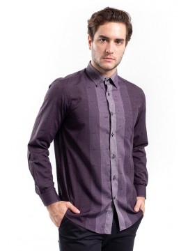 REGULAR FIT PATTERNED SHIRT WITH SPREAD COLLAR