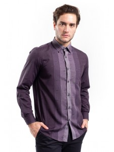 MANLY KEMEJA REGULAR FIT MARION PURPLE