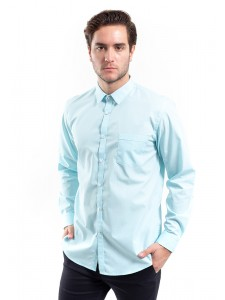 MANLY KEMEJA SLIM FIT SUNBERG LIGHT GREEN