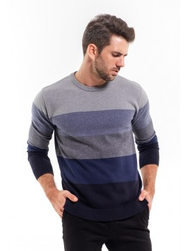 GREY COTTON KNIT SWEATER HAMME