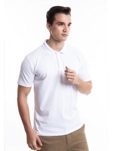 BASIC WHITE COTTON POLO SHIRT