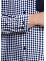 SLIM FIT LONG SLEEVES PLAID SHIRT WITH POCKET COMBINATION