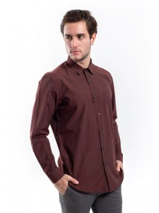 MANLY KEMEJA SLIM FIT  MONCTON MAROON