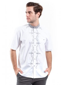 MANLY KEMEJA SLIM FIT ACHNAF WHITE