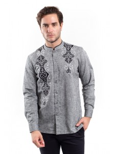 MANLY KEMEJA SLIM FIT AYYUUB GREY
