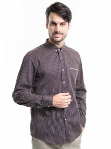 MANLY KEMEJA SLIM FIT CHAPMAN DARK BROWN