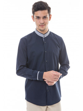 MANLY KEMEJA SLIM FIT SKIMORE DARK BLUE