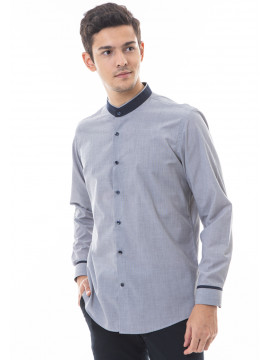 MANLY KEMEJA SLIM FIT SKIMORE LIGHT GREY