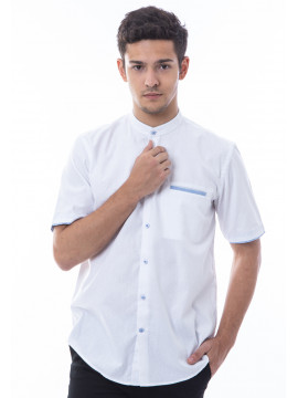 MANLY BAJU KOKO REGULAR FIT PISTOLA WHITE