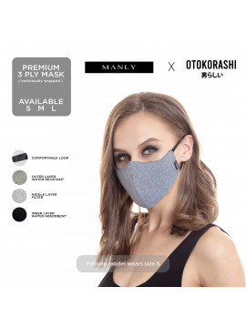 Otokorashi 3ply Face Mask Blue