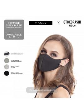 Otokorashi 3ply Face Mask Black