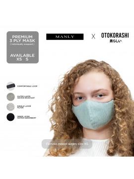 Otokorashi 3ply Face Mask Kids Light Green